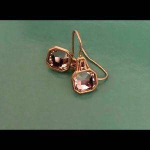 Lia Sophia Crystal and Gold Earrings